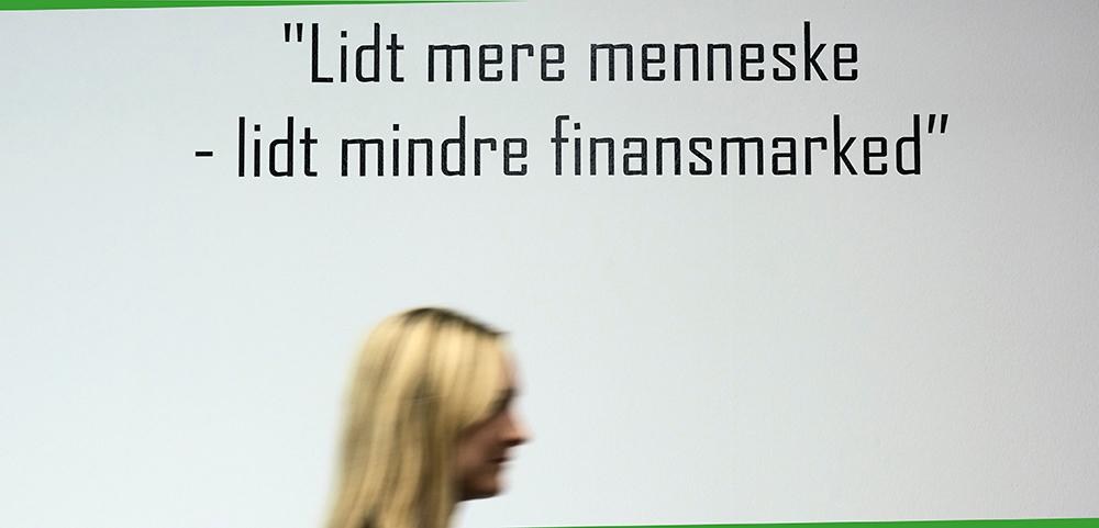 Lidt mere menneske, lidt mindre finansmarked